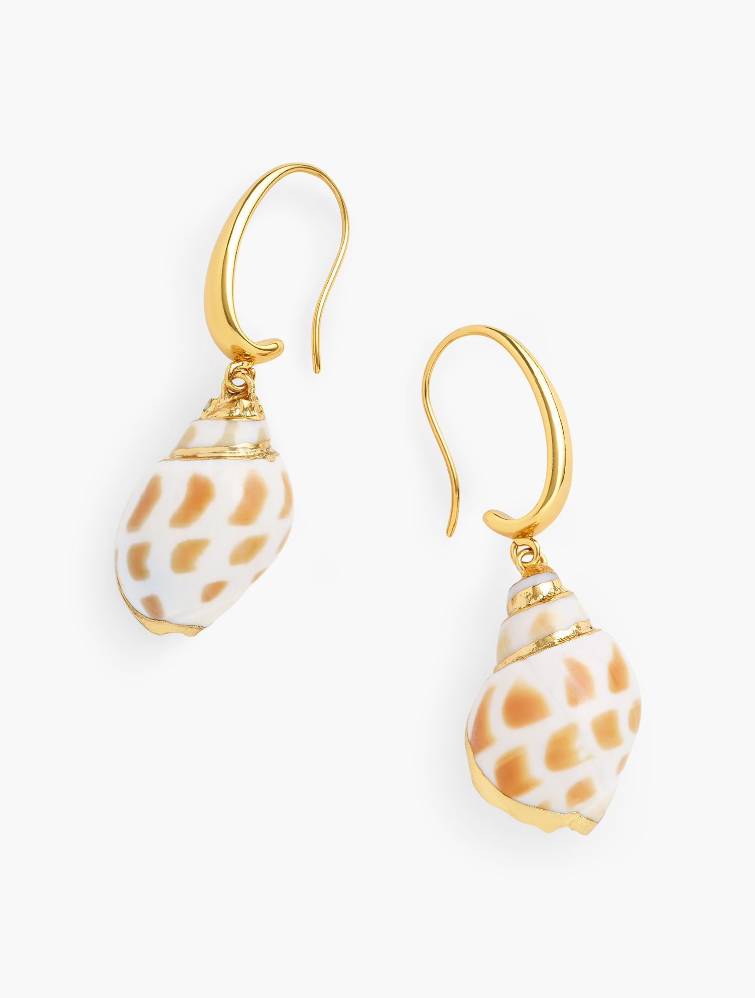 So on trend! A real shell dangles from an oblong shaped hoop. Pairs with our Tiered Seashell Necklace and Seashell Stretch Bracelet. Features Clasp: Hook Imported Fit: 2 inches Drop Material: Brass Casting 50%, Shell 49%, CZ 1% Seashell Drop Earrings - Ivory - 001 Talbots