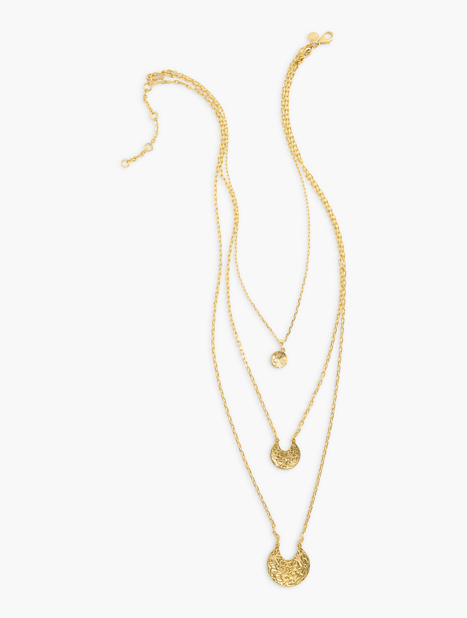 Our Triple Strand Seaside Necklace. Featuring delicate charms inspired by the beach. Features Clasp: Lobster Imported Fit: 31 inches+3 inches Extender Material: 25% Steel Chain, 30% Brass Chain, 44% Zinc, 1% CZ Triple Strand Seaside Necklace - Gold - 001 Talbots