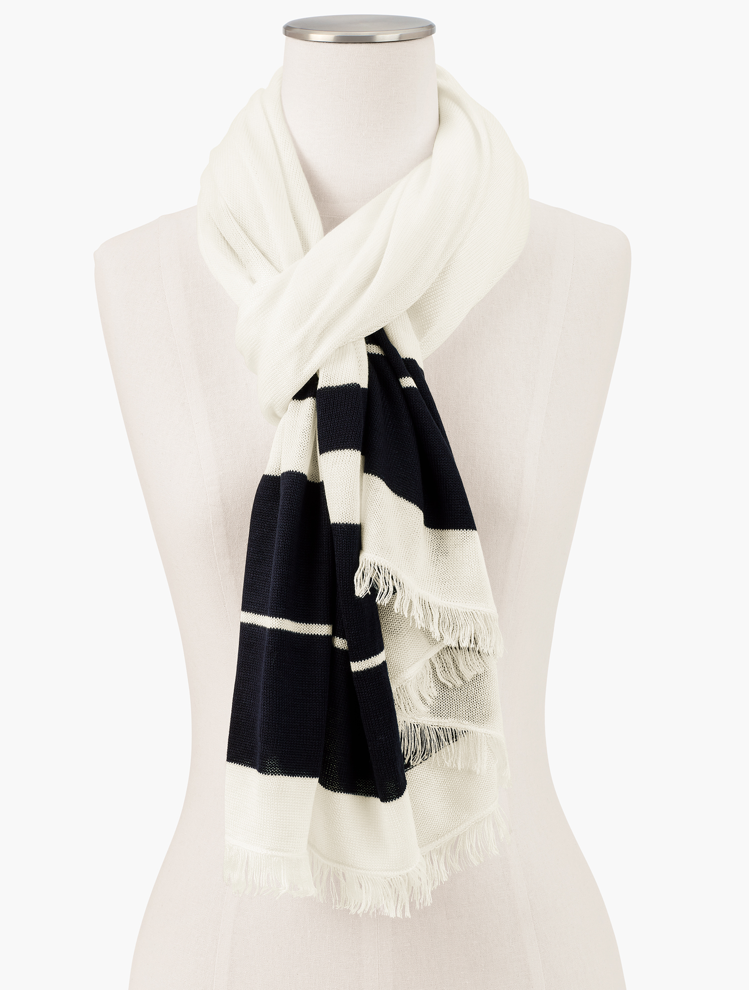 A stylish, yet cozy addition to any outfit. This Echo scarf is a must-have. Features Imported Fit: 27 inches x 72 inches Material: 100% Acrylic Care: Hand Wash; Line Dry Echo Sweater Oblong Scarf - Ivory - 001 Talbots